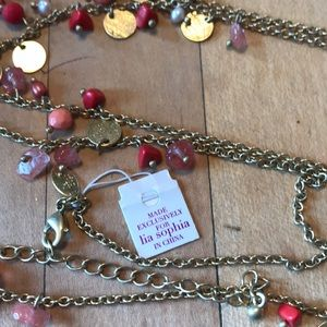 Lia Sophia necklace with small dangles